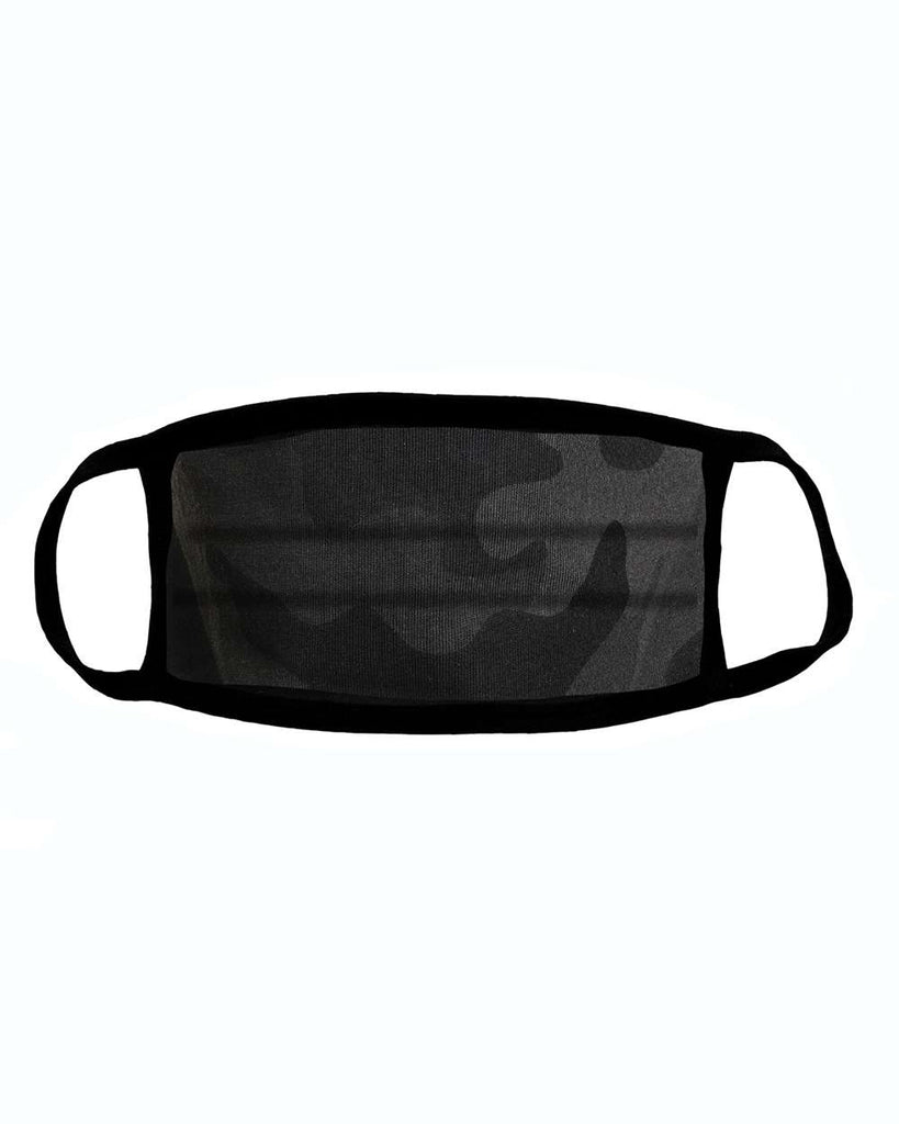 Black Camo Facial Protector For Youth