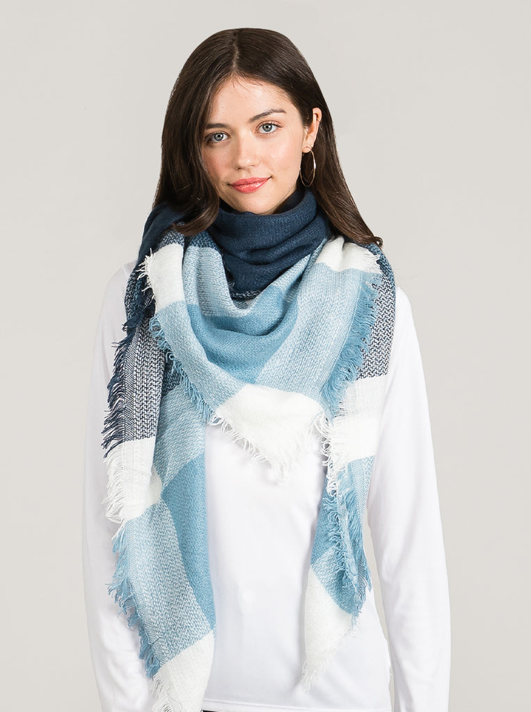 Blues Blanket Scarf For Women