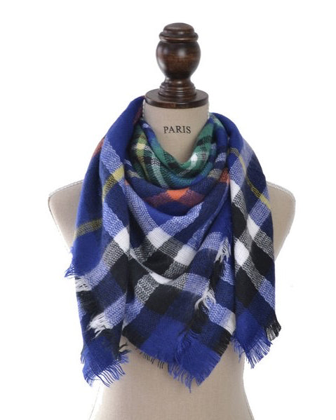 Blue Blanket Scarf - Mommy N' Me
