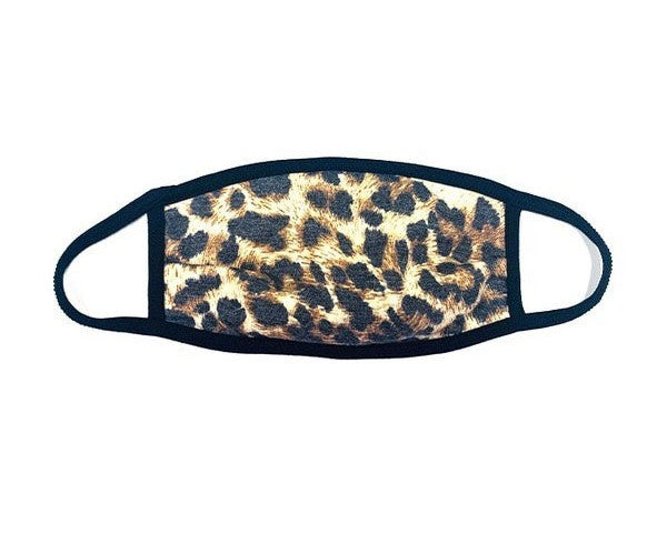Brown Leopard Reversible Facial Protector For Adults
