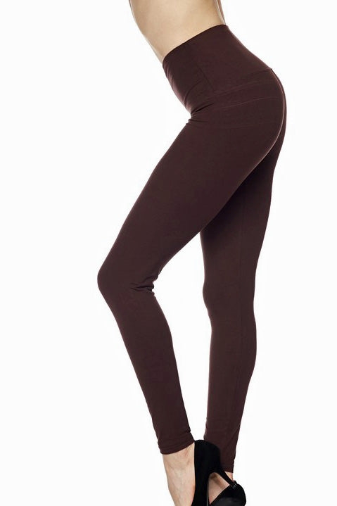 "Brown Legging 5"" Waistband - Women"