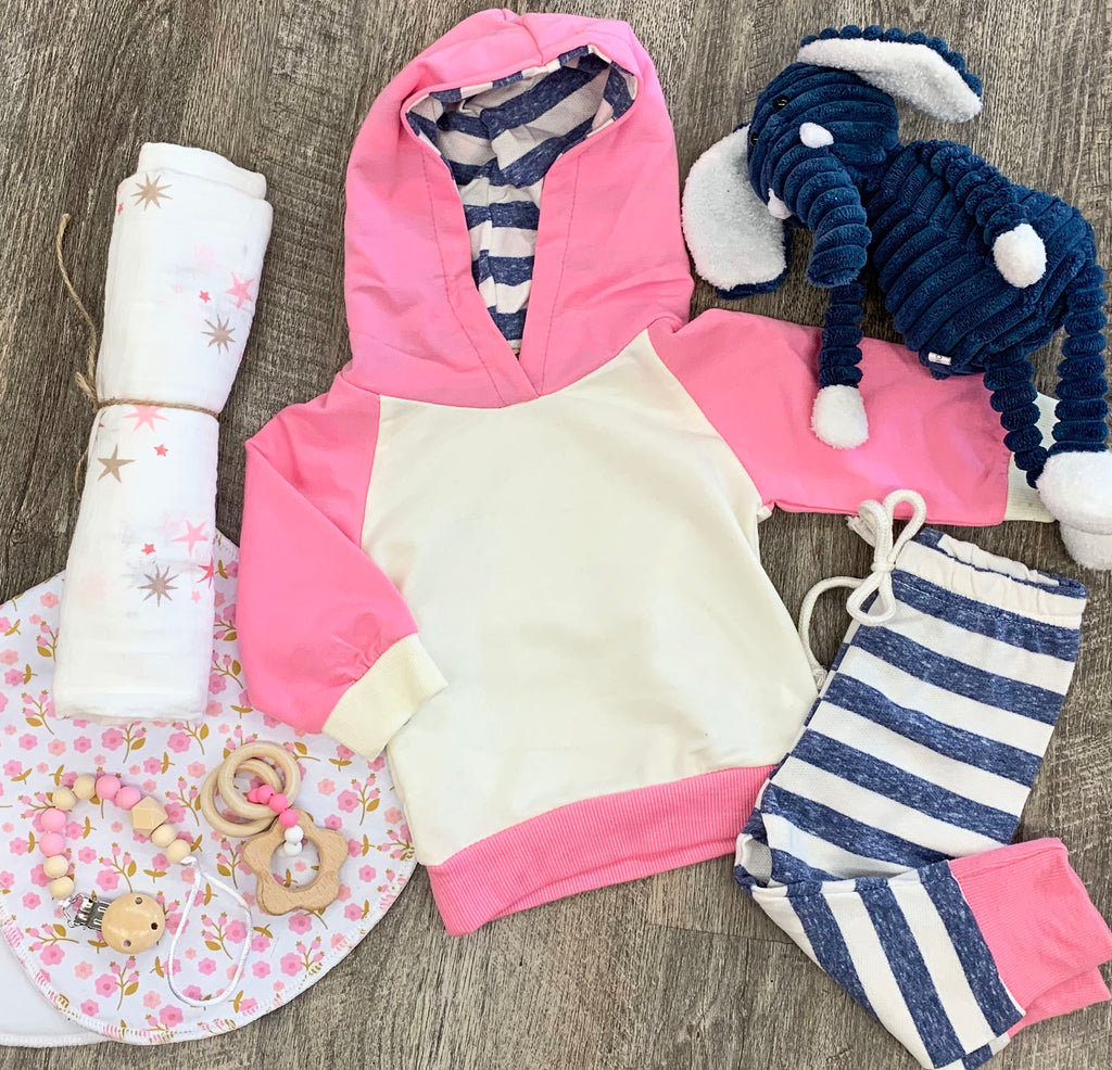 Bubble Gum Pink 2pc Outfit Set For Baby
