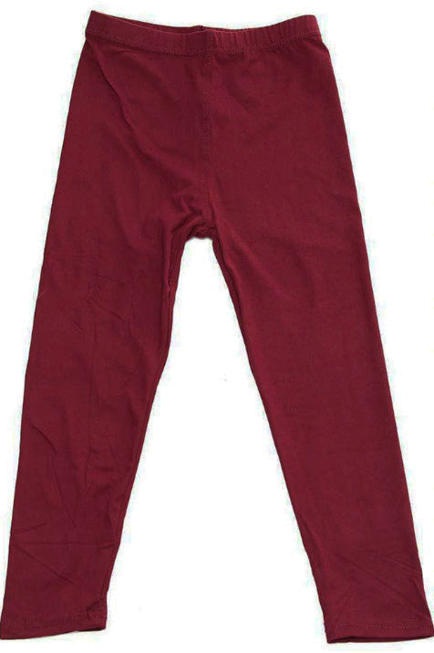 Burgundy Leggings For Girls