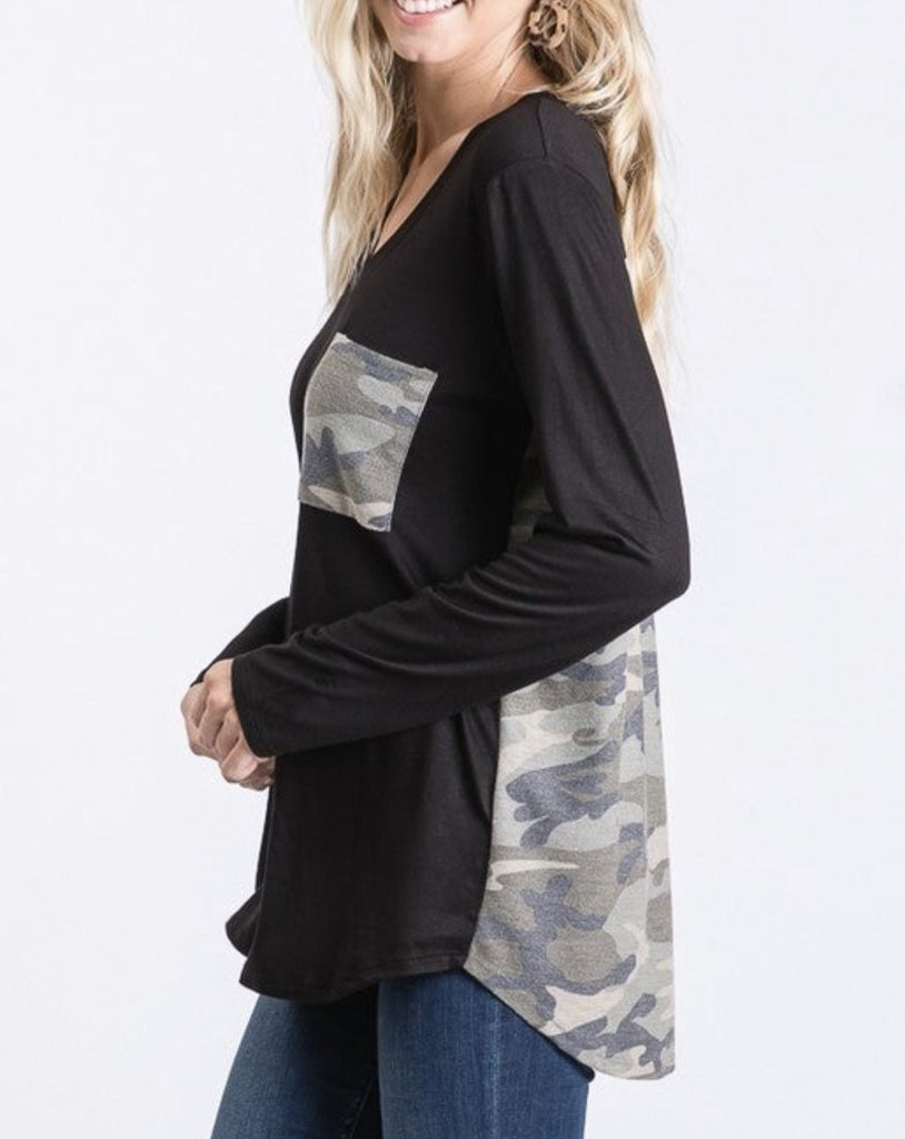 Camo Pocket Top For Women