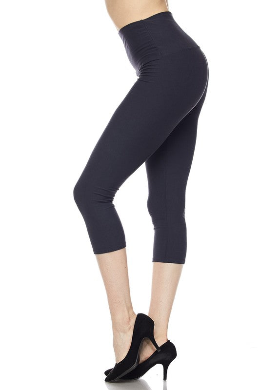"Charcoal Essential Capri 5"" Waistband - Women"