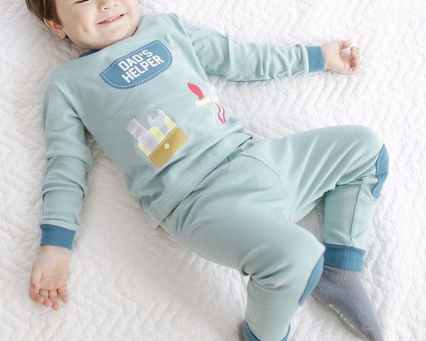 Dad's Helper 2pc PJ Set For Boys