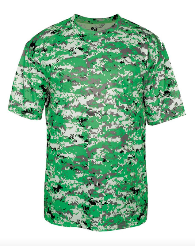 Kelly Green Digital Camo - Youth