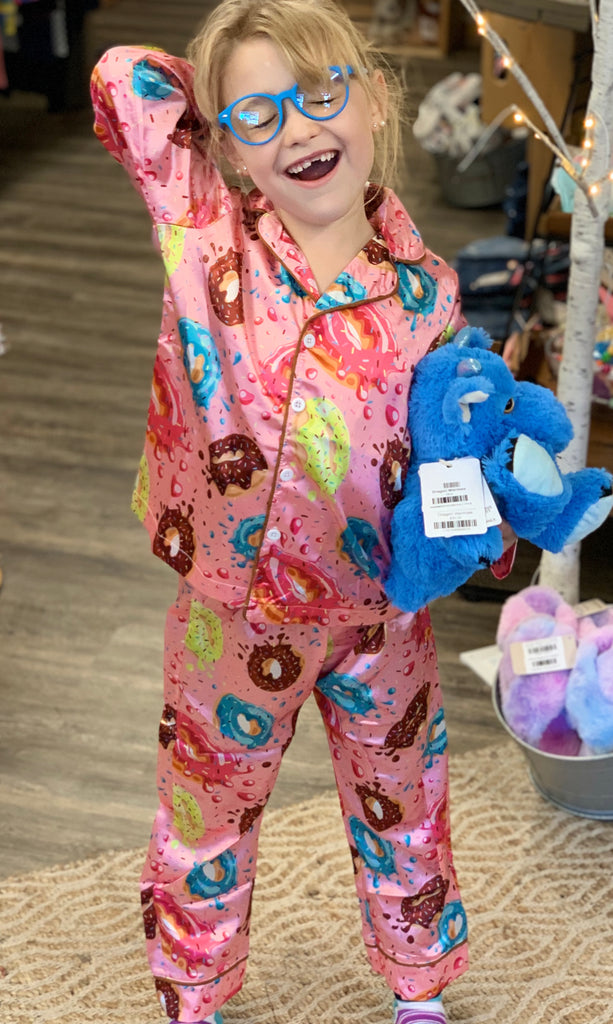 Satin Donut PJ's For Girls