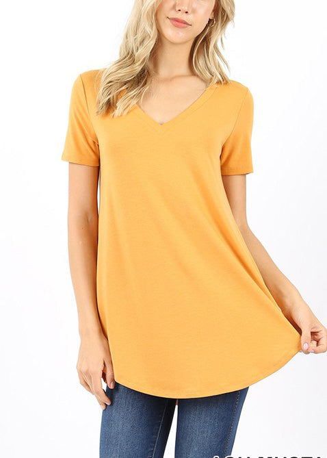 Everyday Ash Mustard Essential Top For Women