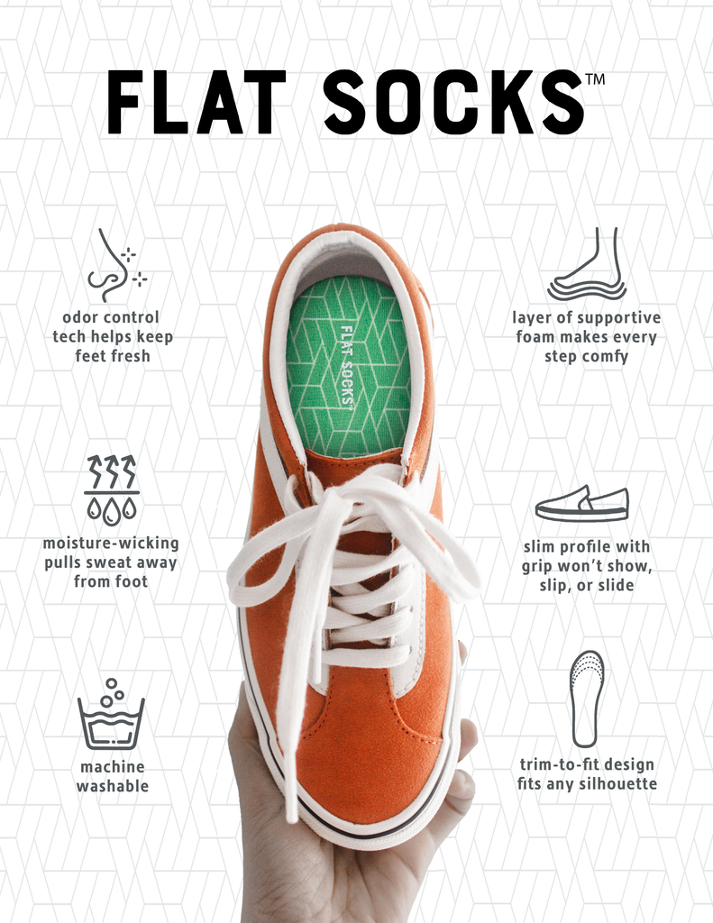 Flat Socks - Never Wear Socks Again For Women