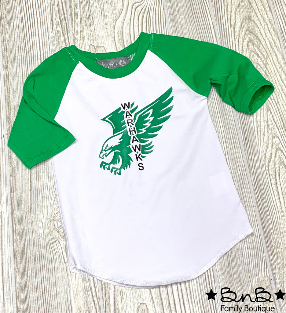 Flying High Warhawks Raglan - Kids
