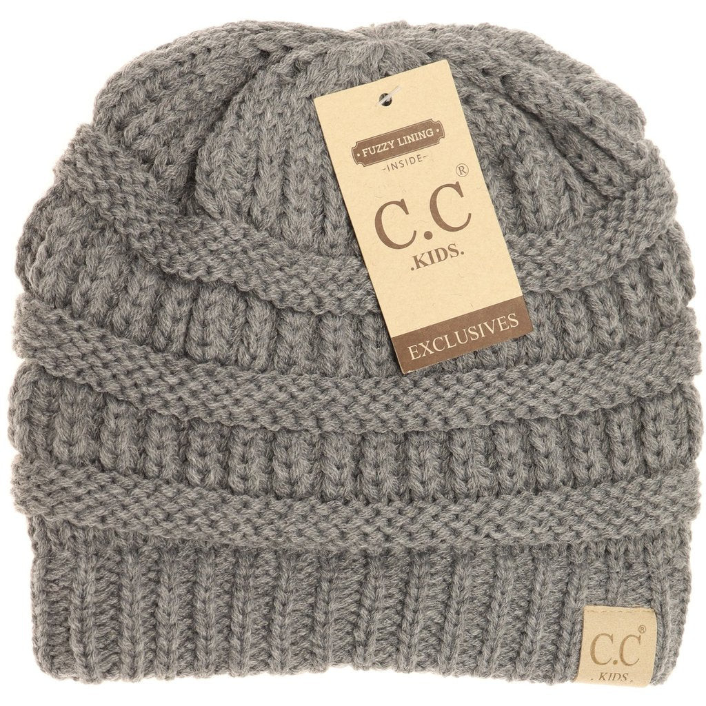 C.C. Gray Sherpa Lined Beanie For Kids