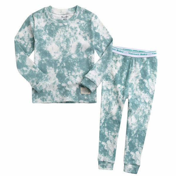 Green Tie Dye 2pc PJ Set - Unisex