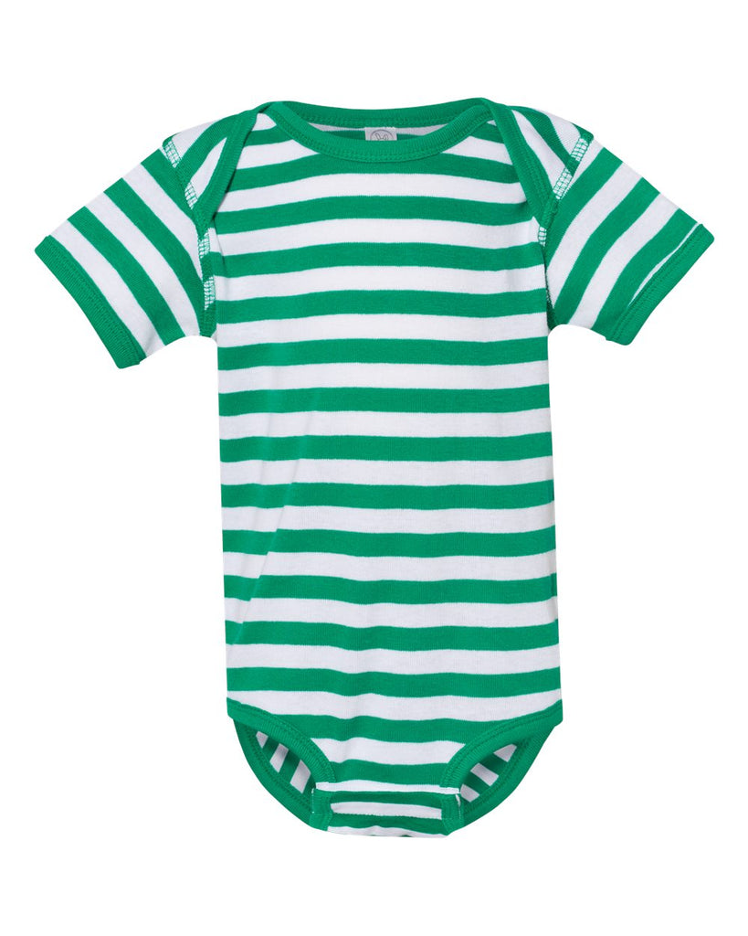 Kelly Green & White Stripe Bodysuit