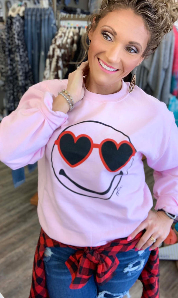 Heart Eyes Sweatshirt For Women