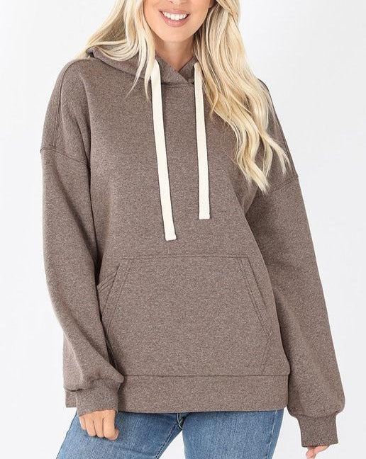 Heather Mocha Hoodie For Women