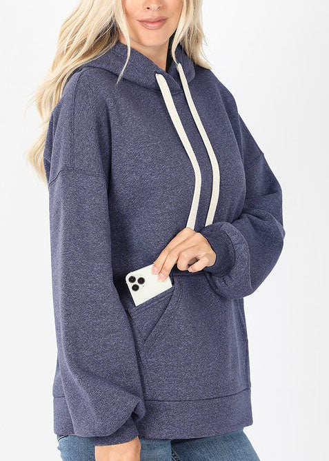 Heather Navy Hoodie For Women