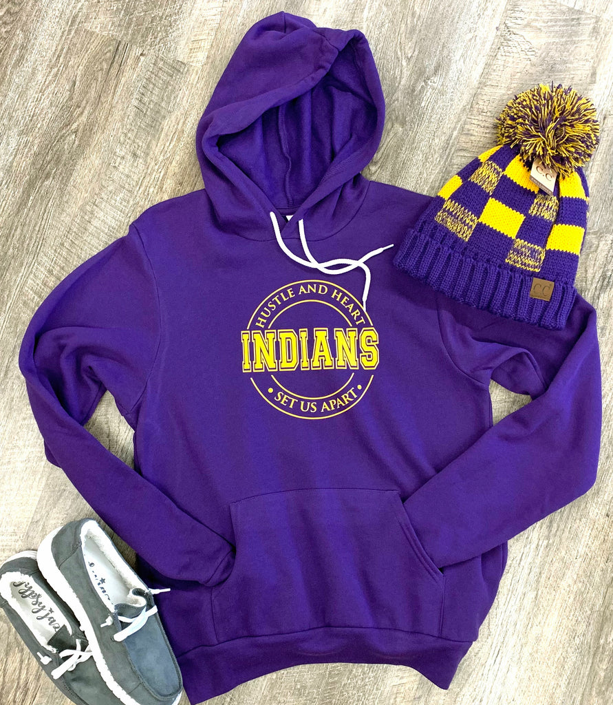 Indians Hustle And Heart Set Us Apart - Hooded Sweatshirt