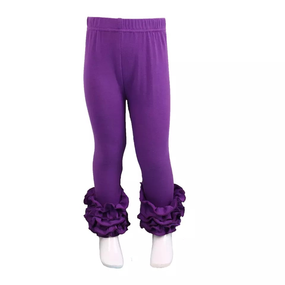 Purple Ruffle Legging For Girls