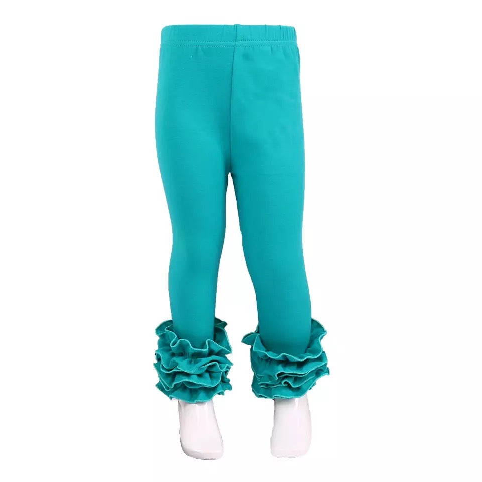 Jade Ruffle Leggings For Girls