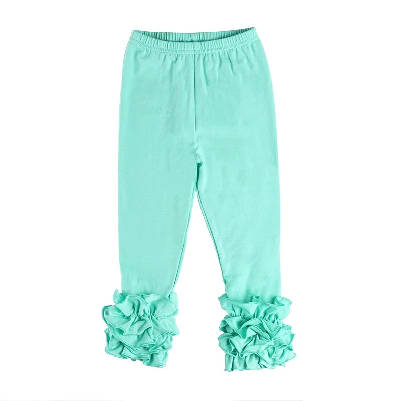 Mint Ruffle Legging For Girls