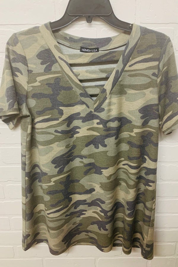 Strappy Camo Top For Women