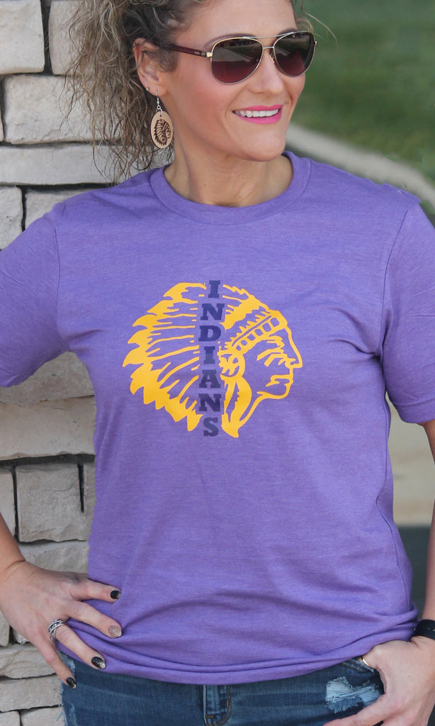 Indians in Indian Head Graphic Tee - Adult