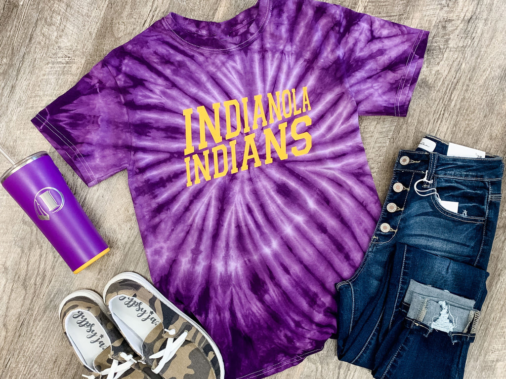 Indianola Indians Tie Dye Graphic Tee
