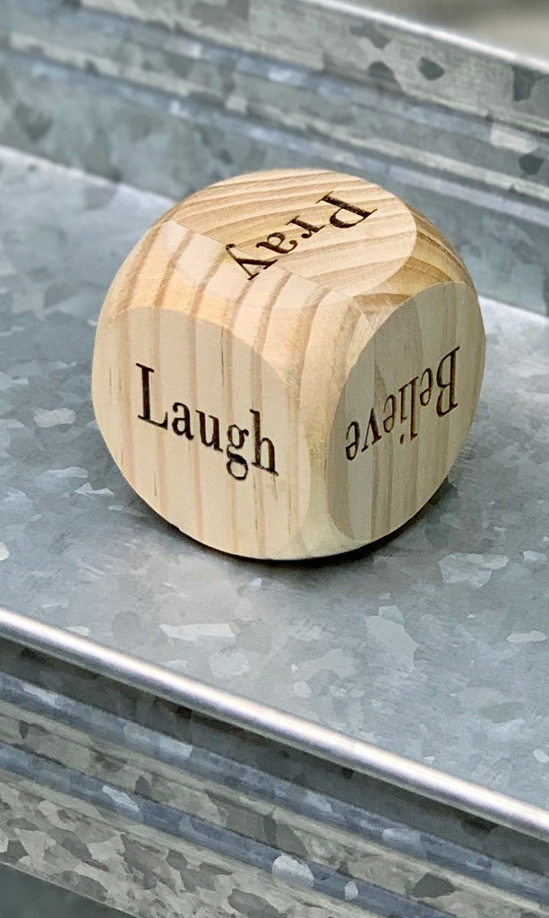 Inspirational Wood Dice