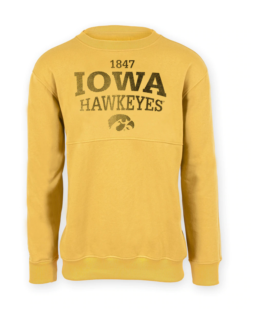 Iowa Distressed Old Gold Sweatshirt - Unisex Adult
