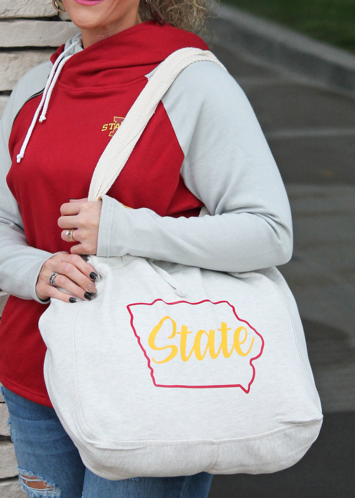 Iowa State Sweatshirt Tote Bag