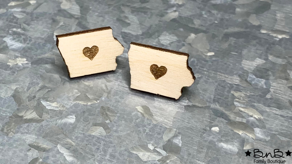 Heart of Iowa Stud Earrings