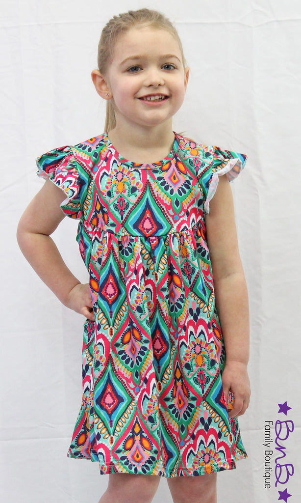 Kaleidoscope Flutter Dress