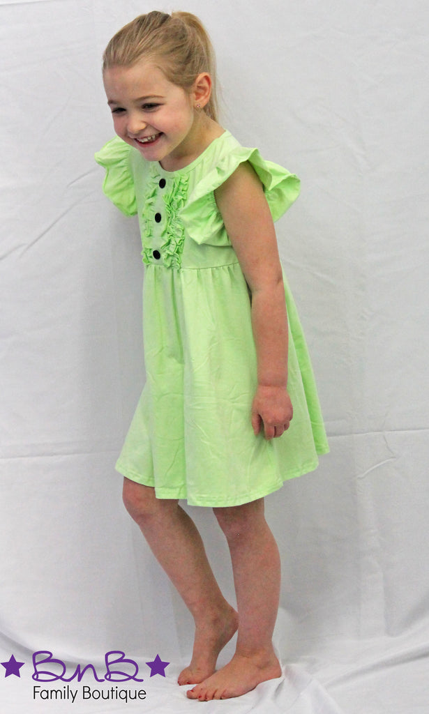 Keylime Flutter Dress