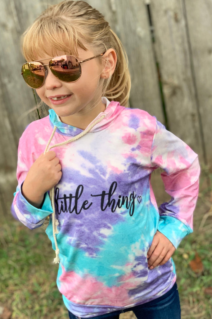 Little Thing Tie Dye Hoodie For Girls