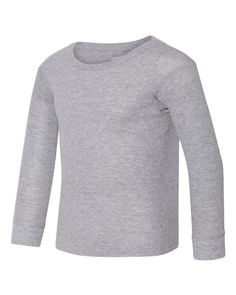 Heather Gray Long Sleeve Top For Girls