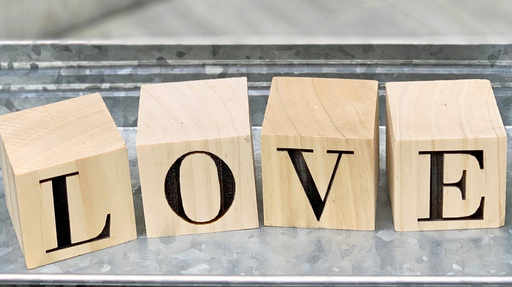 LOVE - Wood Block Set