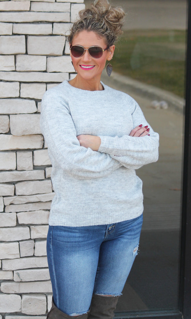 Luxurious Gray Sweater For Women