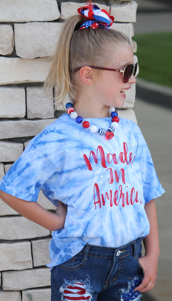Made In America Tie Dye Graphic Tee For Youth