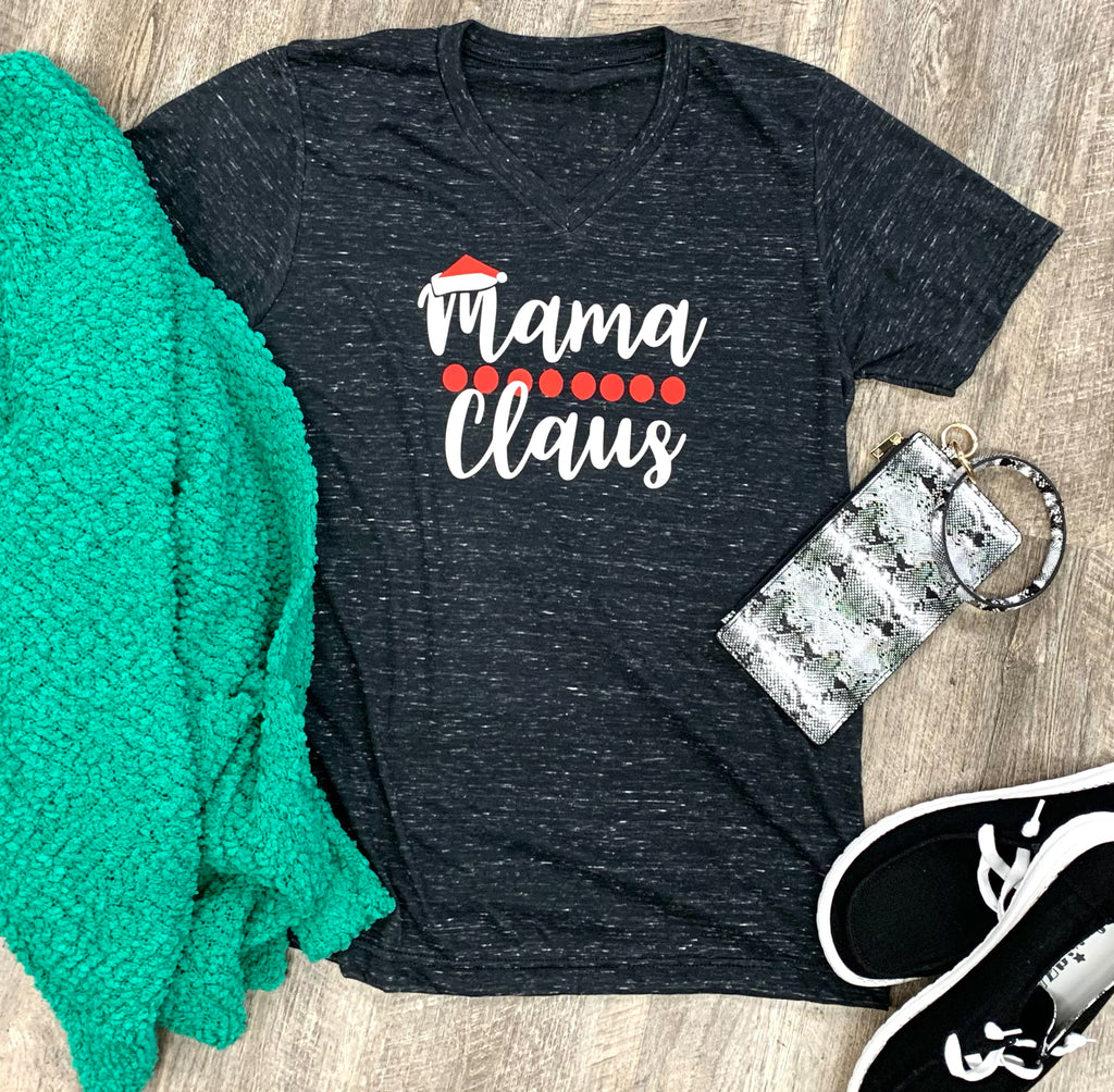 Mama Claus Graphic Tee For Women