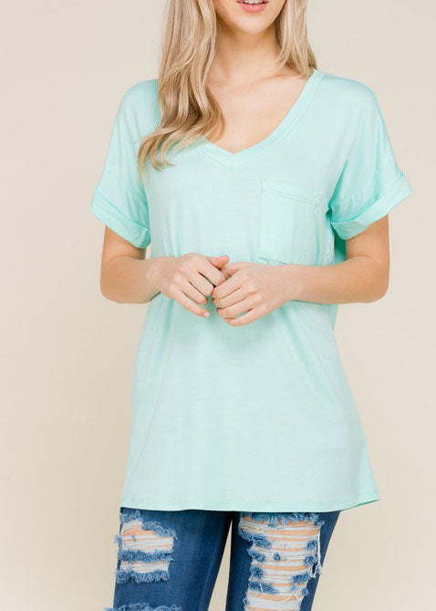 Cool Mint Boyfriend Tee For Women