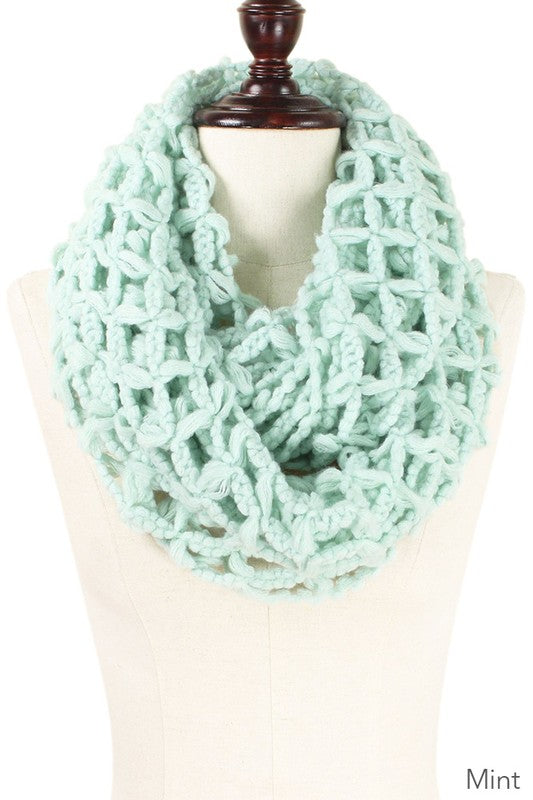 Mint Net Infinity Scarf - Women