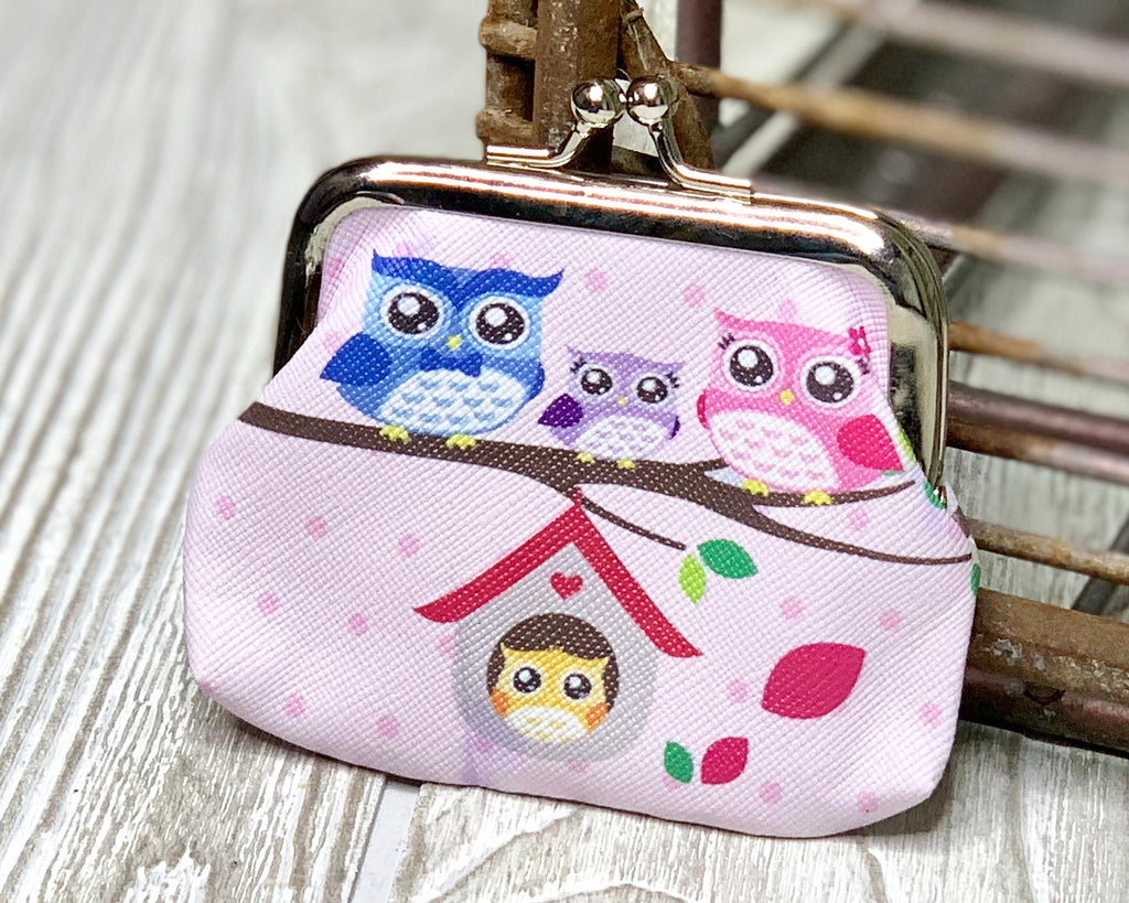Owl Family Coin Purse