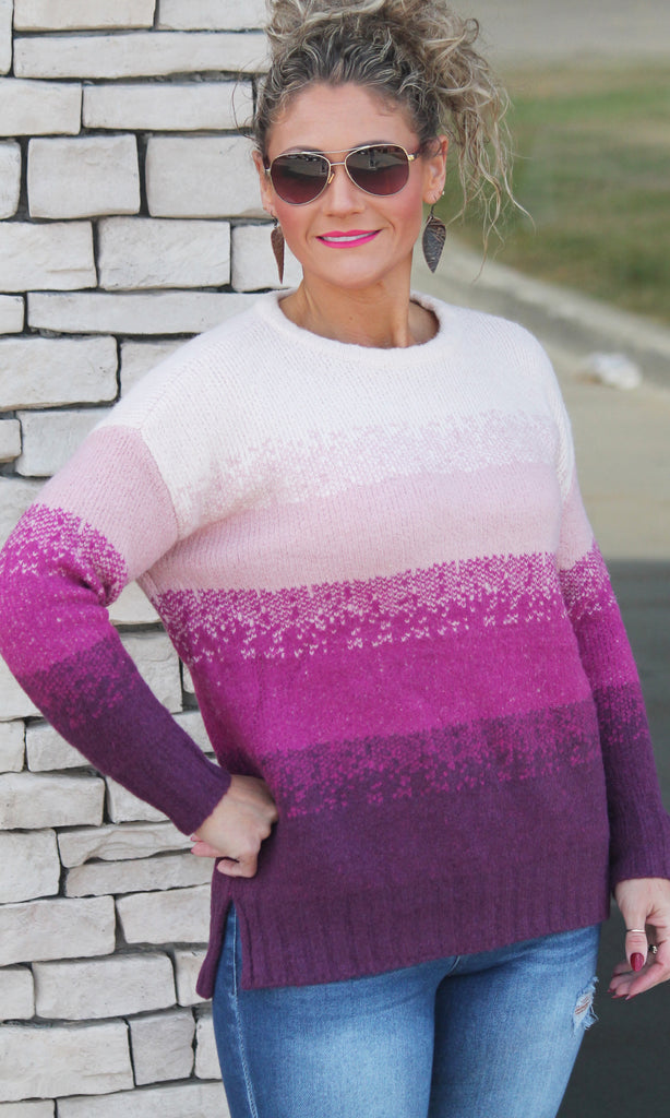 Plum Crazy Cozy Sweater For Women