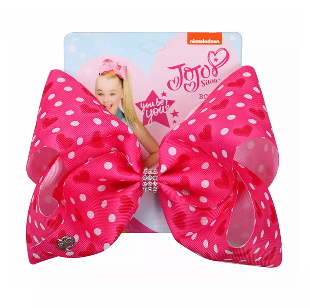 "Polka Dot Heart 7"" Bow"