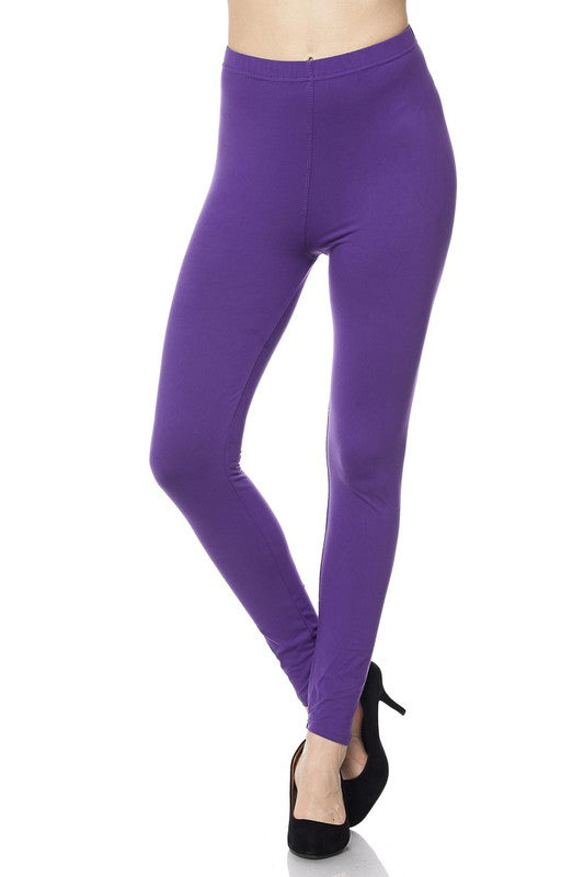 "Purple Legging 1"" Waistband - Women"