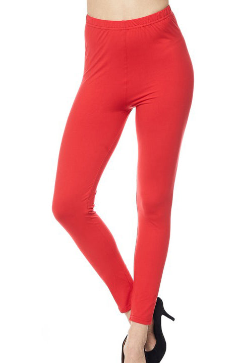 "Red Legging 1"" Waistband - Women"