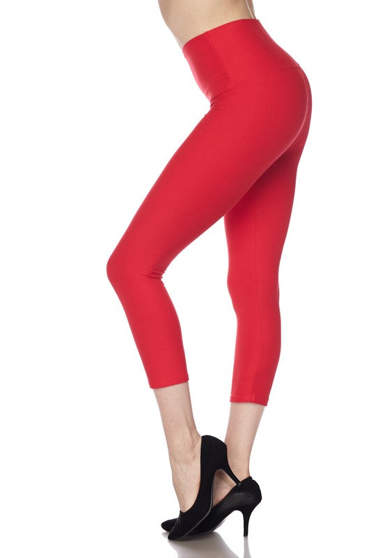 "Red Essential Capri 5"" Waistband - Women"