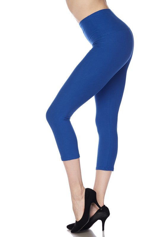"Royal Blue Essential Capri 1"" Waistband - Women"