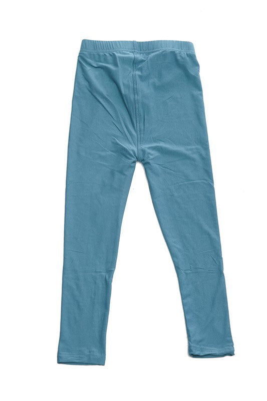 Sea Blue Essential Legging - Girls